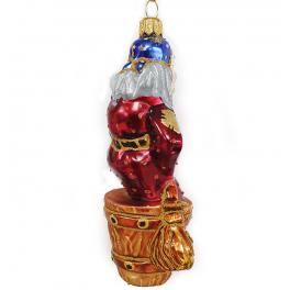 Стеклянная ёлочная игрушка «Баба Яга», 13,5 см