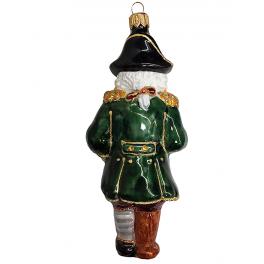 Стеклянная ёлочная игрушка «Пират», 14 см