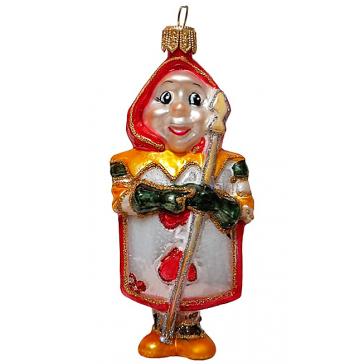 Стеклянная ёлочная игрушка «Червонный Валет», 11х5 см