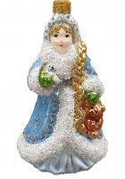 Ёлочная игрушка «Снегурочка с мишкой»