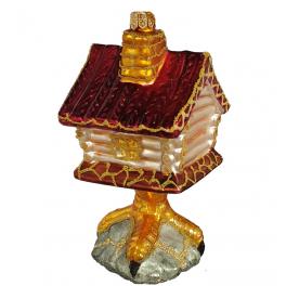 Стеклянная ёлочная игрушка «Избушка на курьих ножках», 13,5 см