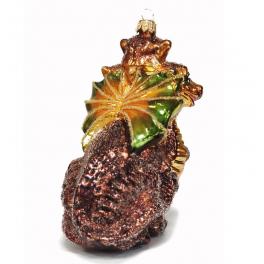 Стеклянная ёлочная игрушка «Змей Горыныч», 14 х 8 х 10 см