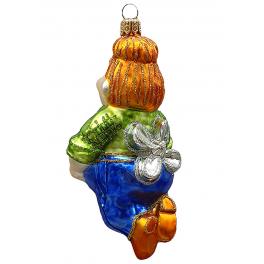 Стеклянная ёлочная игрушка «Карлсон», 13х7 см