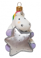 Ёлочная игрушка «Единорог со звездочкой»
