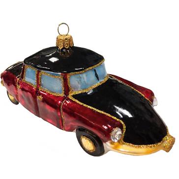 Стеклянная ёлочная игрушка «Ретро автомобиль», 14 х 6,5 см