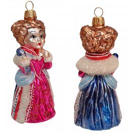 Стеклянная ёлочная игрушка «Червонная Королева», 10,5х5 см