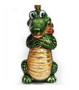 Ёлочная игрушка «Крокодил с птичкой»