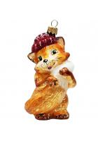 Ёлочная игрушка «Лисичка в шапочке»