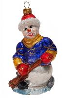 Ёлочная игрушка «Снеговик-хоккеист»