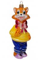 Ёлочная игрушка «Кот Леопольд»