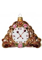 Ёлочная игрушка «Каминные часы»