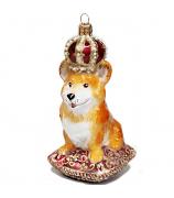 Ёлочная игрушка «Корги в короне»