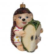 Ёлочная игрушка «Ёжка с яблочком»