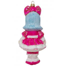 Стеклянная ёлочная игрушка «Мальвина», 14х7 см