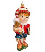 Ёлочная игрушка «Буратино с золотым ключиком»