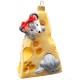 Ёлочная игрушка «Мышки на сыре»
