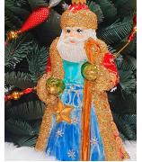 Ёлочная игрушка «Дед Мороз с посохом»