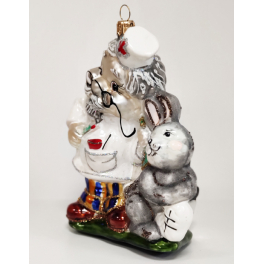 Стеклянная ёлочная игрушка «Доктор Айболит», 13х11х6 см