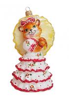 Ёлочная игрушка «Кошка с зонтиком»
