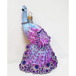 Стеклянная ёлочная игрушка «Жар-птица», 15х9,5 см