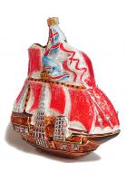 Ёлочная игрушка «Алые паруса»