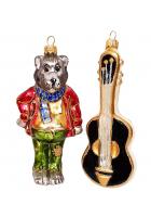Набор ёлочных игрушек «Волк с гитарой»