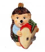 Ёлочная игрушка «Ёжик с яблочком»