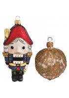 Набор ёлочных игрушек «Щелкунчик и орех»