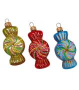 Набор ёлочных игрушек «Конфетки леденцы»