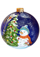 Ёлочный шар «Снеговик у ёлочки»