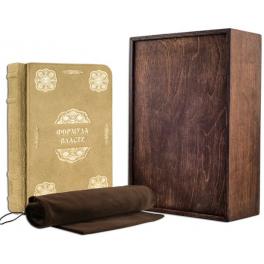 Кожаная книга «Формула власти» в подарочной коробке