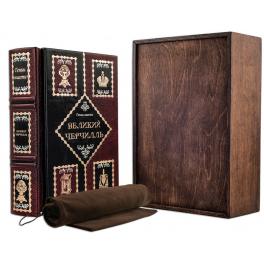 Кожаная книга «Великий Черчиль» в подарочной коробке