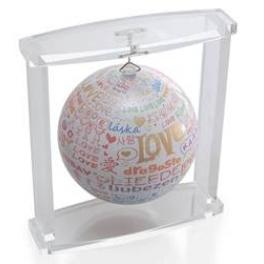 Подвесной самовращающийся глобус «I love you»