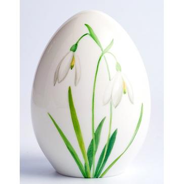 Фарфоровое пасхальное яйцо «Подснежники»