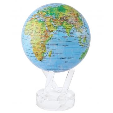 Глобус настольный самовращающийся с общегеографической картой мира