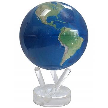 Глобус настольный самовращающийся большой «Вид из космоса»