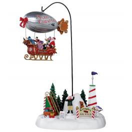 Новогодняя композиция с движением «Рождественский дирижабль», Lemax