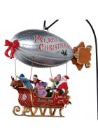 Композиция с движением «Рождественский дирижабль»