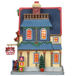 Новогодний сувенир с подсветкой — Домик «Магазин игрушек»