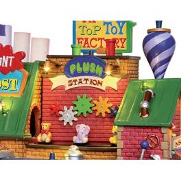 Новогодний музыкальный сувенир с подсветкой — Домик «Фабрика игрушек»