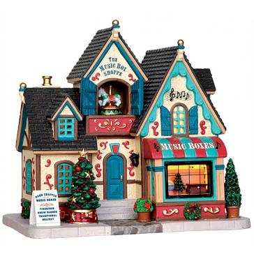 Новогодний сувенир с подсветкой — Домик «Магазин музыкальных шкатулок»