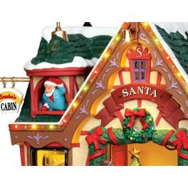 Новогодний сувенир с подсветкой — Домик «Приемная Санты»