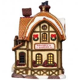 Новогодний сувенир с подсветкой — Домик «Пекарня Девани»