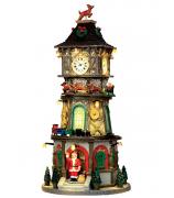 Домик с подсветкой «Рождественская башня с часами»