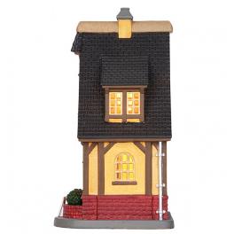 Новогодний сувенир с подсветкой — Домик «Рождественский магазин»