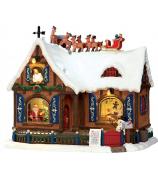Домик с подсветкой и музыкой «В ожидании Рождества»
