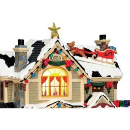 Новогодний сувенир с подсветкой — Домик «Рождественский домик»