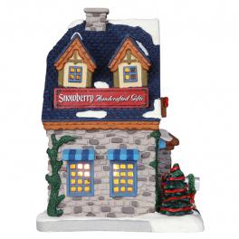 Новогодний сувенир с подсветкой — Домик «Магазин сувениров ручной работы»
