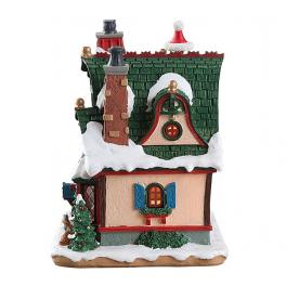 Новогодний сувенир с подсветкой — Домик «Коттедж Клауса»