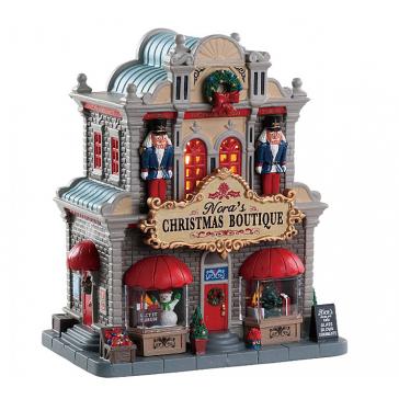 Новогодний сувенир с подсветкой — Домик «Рождественский бутик Норы»